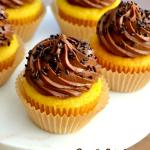 The Best Chocolate-Frosted Yellow Cupcakes
