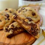 Thick & Chewy Brown Butter Caramel-Filled Chocolate Chip Cookies