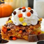 Peanut Butter Cup Pumpkin Pie Cake