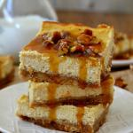 Pecan Praline Cheesecake Bars