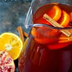Spiced Pomegranate Orange Iced Tea
