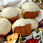 Pumpkin Muffins with Maple Icing