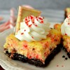 Peppermint Bark Cheesecake Bars