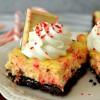 Peppermint Bark Cheesecake Bars