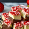Peppermint Bark Swirled Fudge