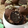 Mint Oreo Truffle Brownie Bombs