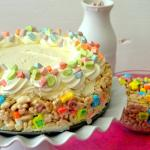 No-Bake Lucky Charms Marshmallow Cheesecake