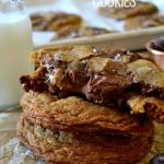 Salted Nutella-Filled Chocolate Chunk Cookies