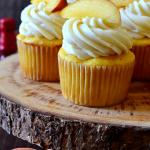 Peach Bourbon Cupcakes with Peach Buttercream