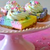 Unicorn Rainbow Cheesecake Bars
