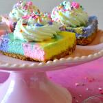 Unicorn Rainbow Cheesecake Bars