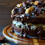 Slutty Brownie Cookie Dough Cake