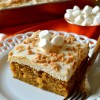 Sweet Potato Sheet Cake with Marshmallow Frosting