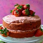 Best Homemade Strawberry Buttermilk Layer Cake
