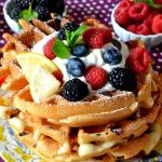 Triple Berry Lemon Waffles