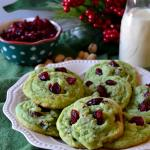 Cranberry Pistachio Pudding Cookies