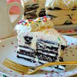 No-Bake Funfetti Oreo Icebox Cake