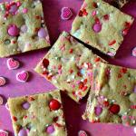 Valentine's M&M Cookie Bars