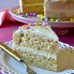 The VERY BEST Homemade Vanilla Cake