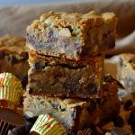 Chocolate Chip Cookie Peanut Butter Cup Bars