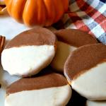 Pumpkin Black & White Cookies