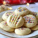 Buttery Whipped Shortbread Cookies