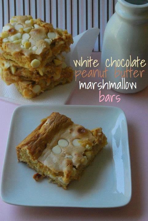 White chocolate peanut butter marshmallow bars recipe