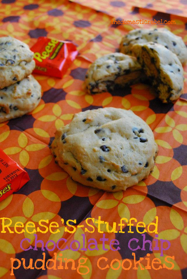 Reese's Stuffed Chocolate Chip Pudding Cookies | The Domestic Rebel