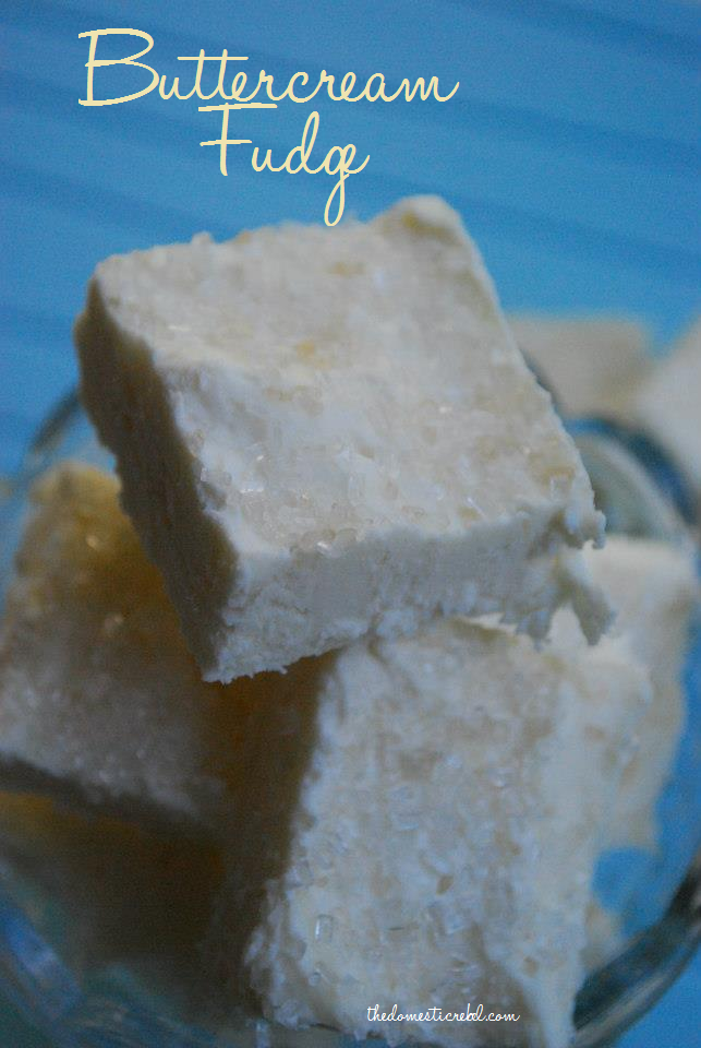 Buttercream Fudge | The Domestic Rebel