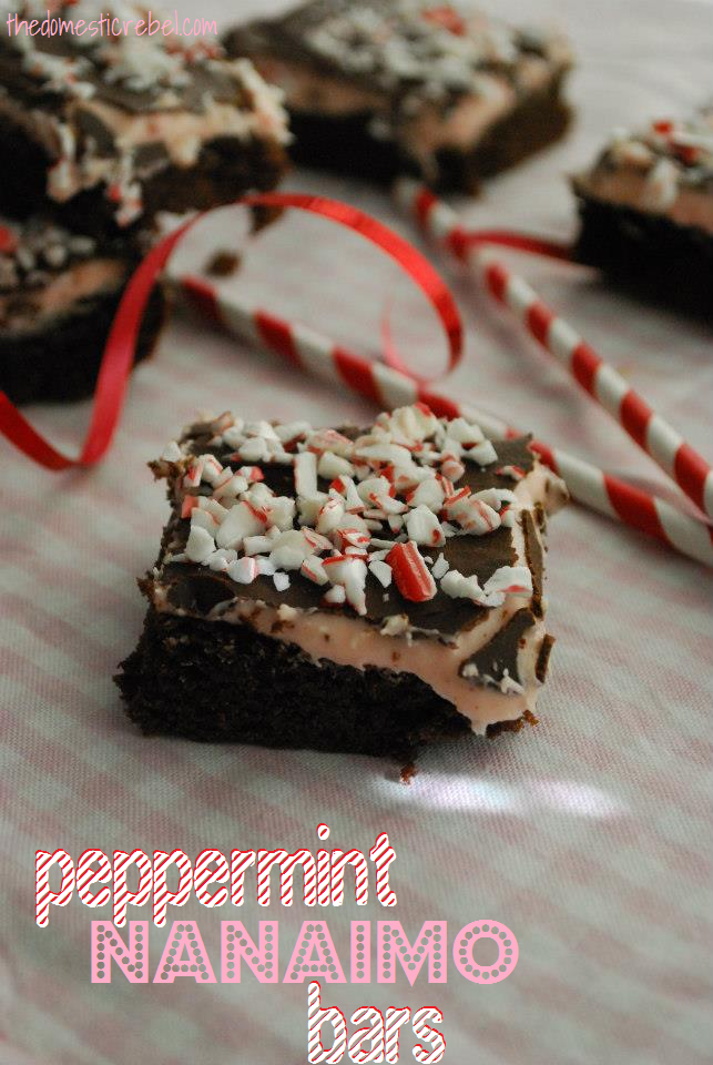Peppermint Nanaimo Bars | The Domestic Rebel