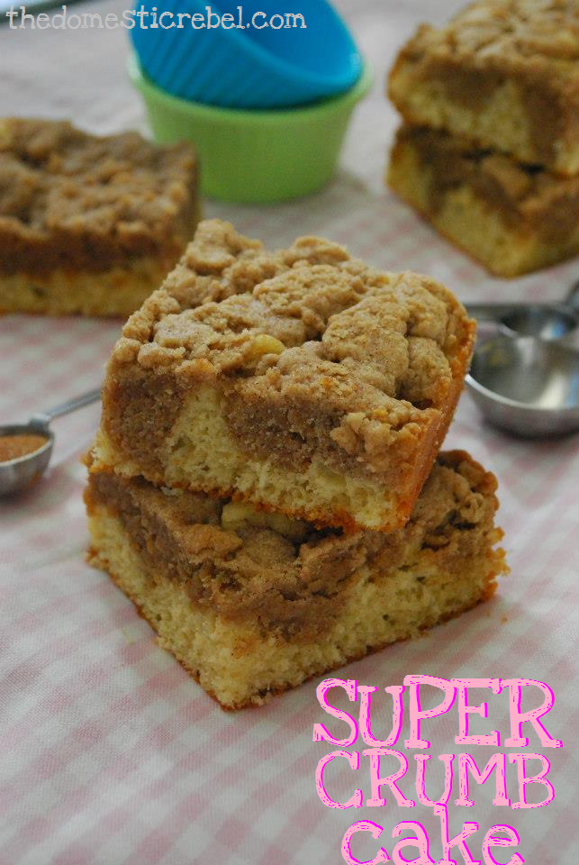 super crumb cake - a coffee cake with extra crumb topping!