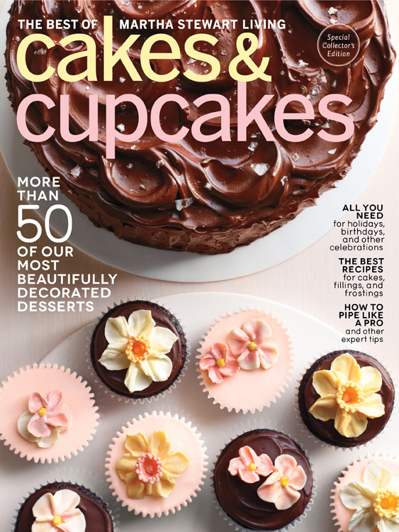photo of a martha stewart cakes and cupcakes magazine cover