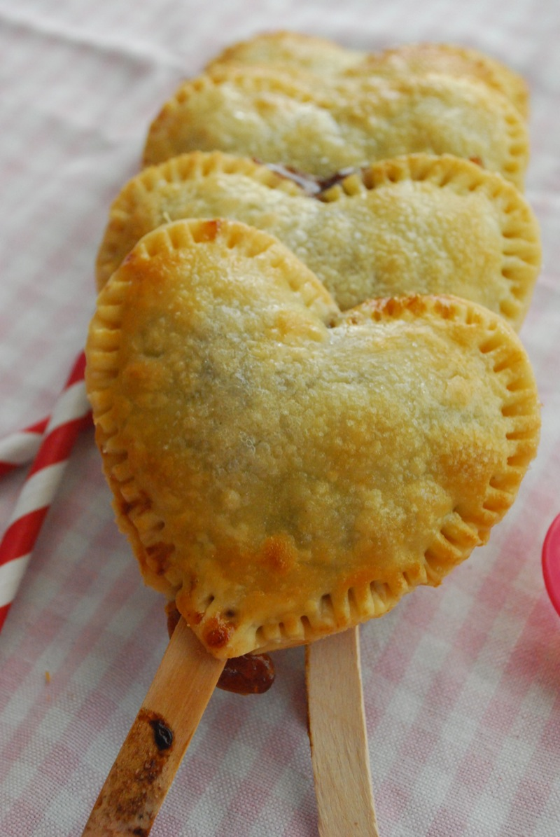 heart-shaped pie pops. It was a good idea on my part, paranoia and all ...