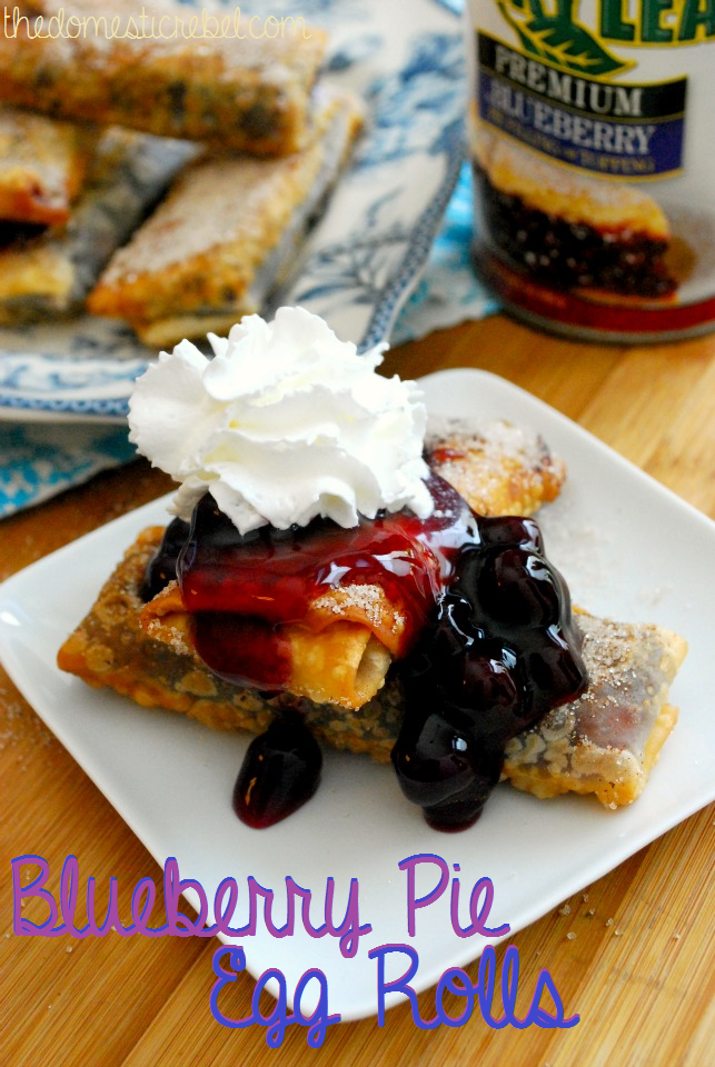 blueberry pie eggrolls