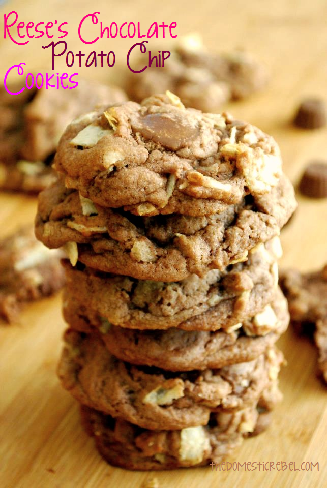 Reese's Chocolate Potato Chip Cookies | The Domestic Rebel