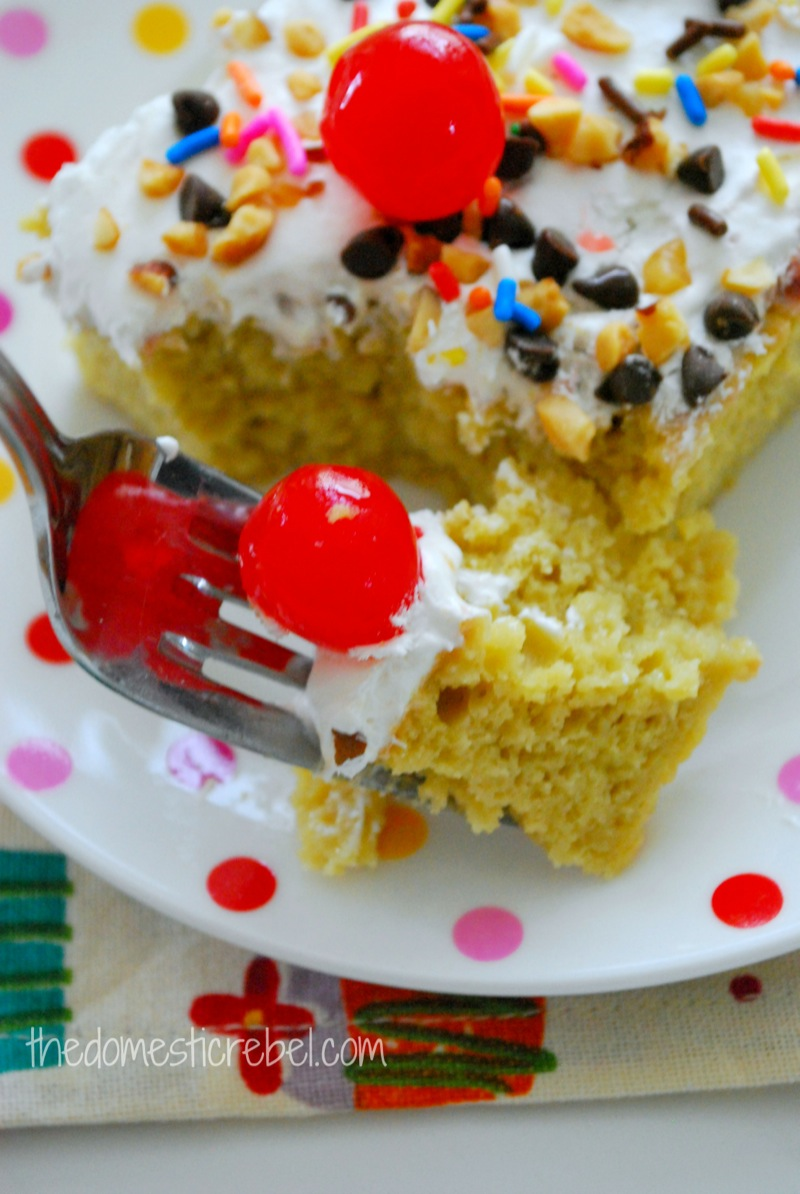 Banana Poke Cake Recipe With Condensed Milk