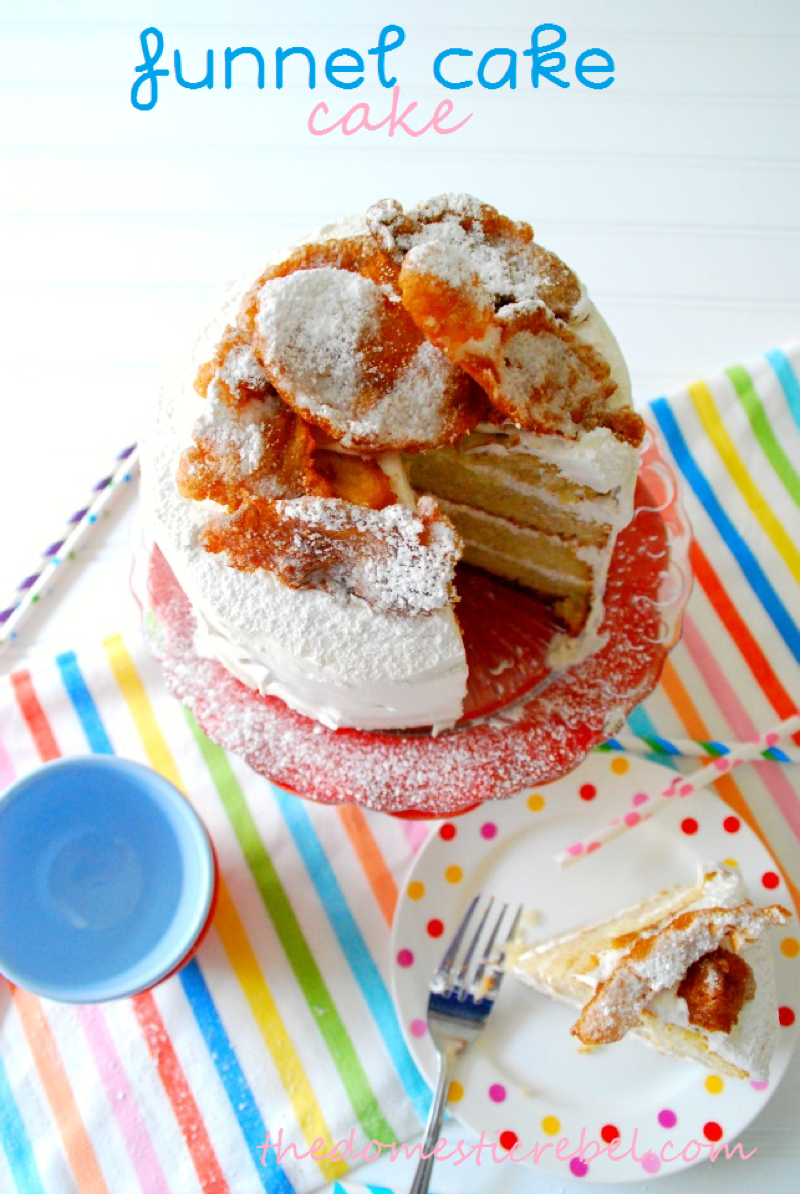 Funnel Ice Cream Cake