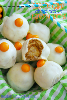 Carrot Cake Cheesecake Brownie Bombs