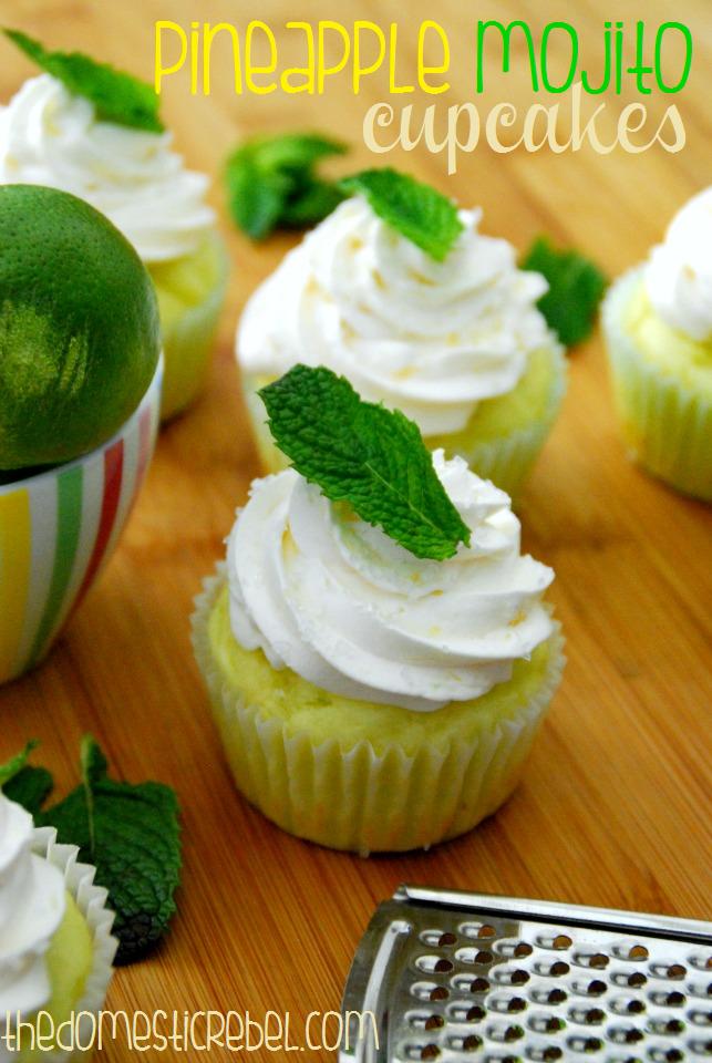 pineapple mojito cupcakes
