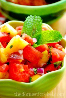 Watermelon Dessert Salsa & Cinnamon Sugar Pita Chips–Fresh Finds with Save Mart Supermarket
