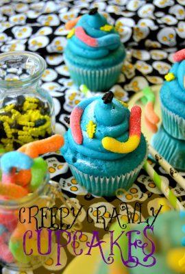 Creepy Crawly Cupcakes