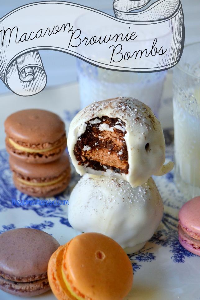 macaron brownie bombs