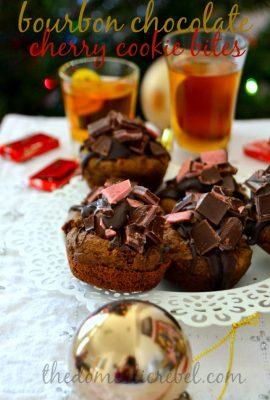 Bourbon Chocolate Cherry Cookie Bites