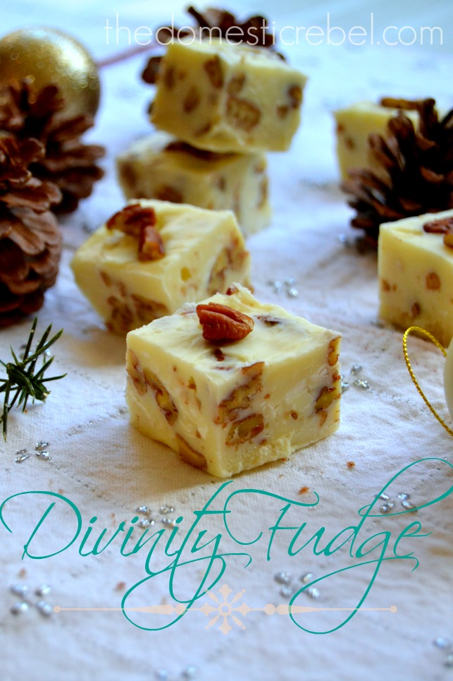 gonna get right to the point with this one today: Divinity Fudge ...