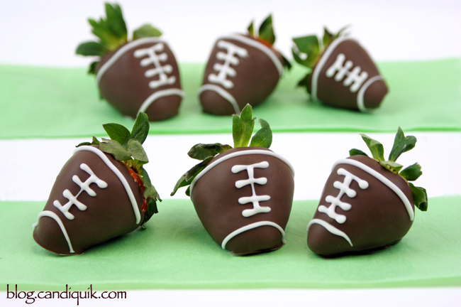 Strawberry Footballs from Candiquik