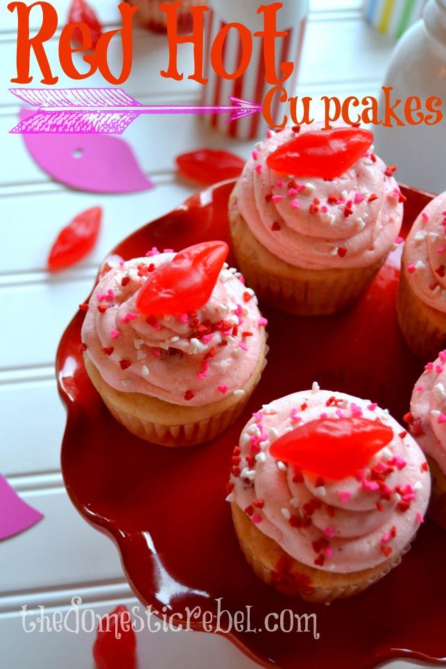 red hot cinnamon cupcakes