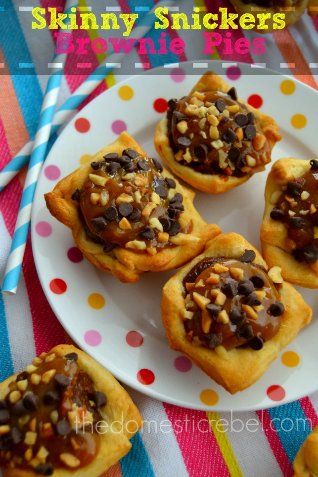Skinny Snickers Pies