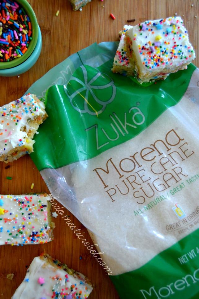 softest sugar cookie bars with zulka sugar