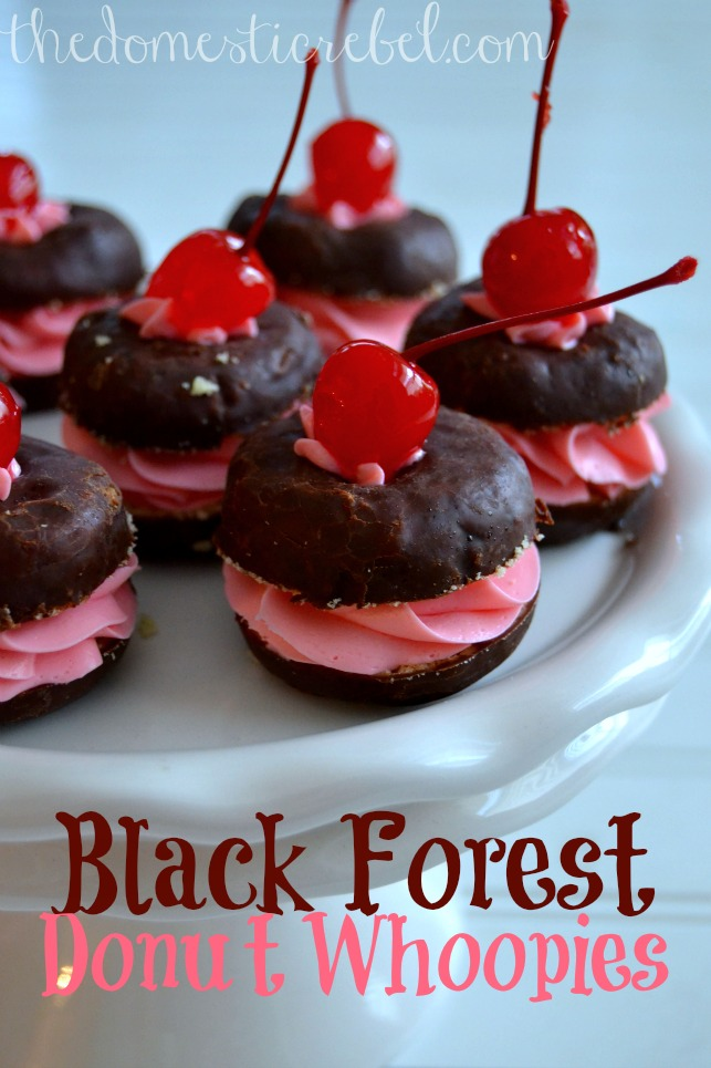 black forest donut whoopie pies