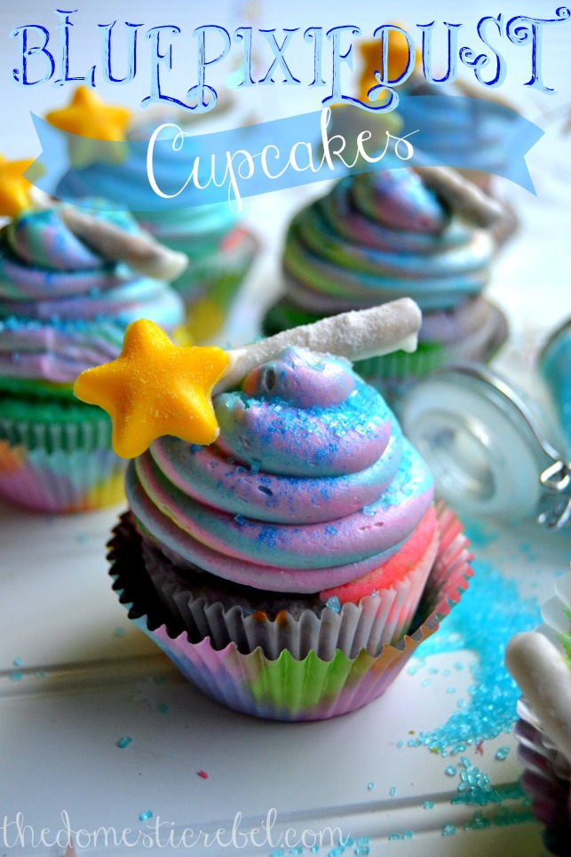 Blue Pixie Dust Cupcakes For Disney S The Pirate Fairy